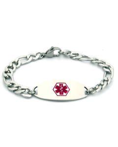 "Figaro Chain Bracelet-Red-6-1/2"" fits 5-1/2"" wrists"