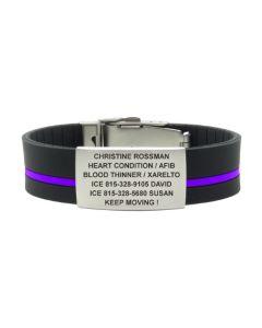 Silicone Classic Striped 1.375 Plate-Purple