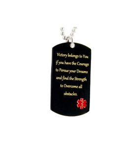 Victory Pendant Large Stainless Steel Black